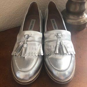 Steve Madden Meela silver tassel loafers